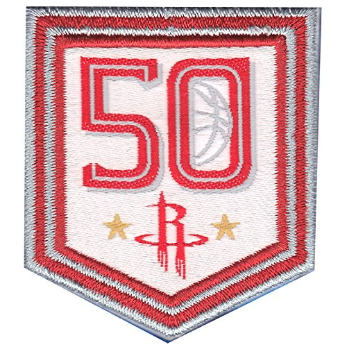 2017 NBA Houston Rockets 50th Anniversary Official Small Jersey Patch by Patch Collection