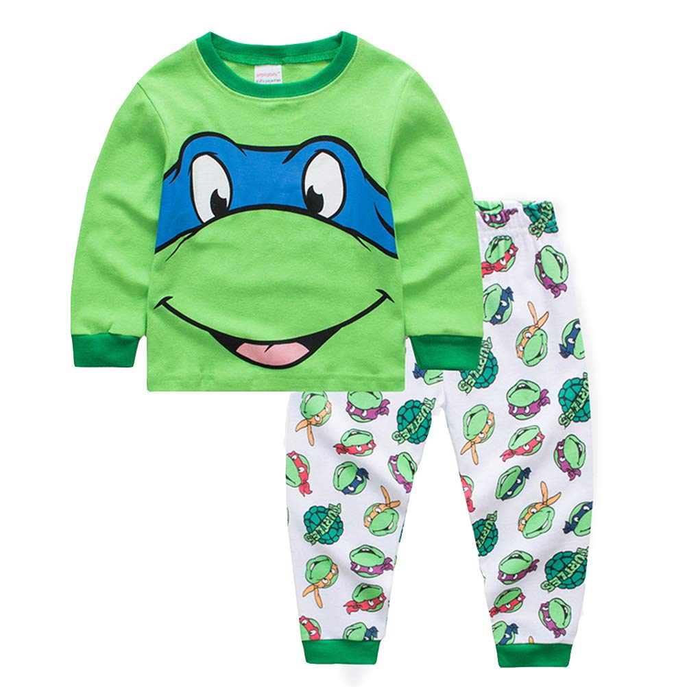 2019 - Pijama de dos piezas para niños, manga larga, algodón ...