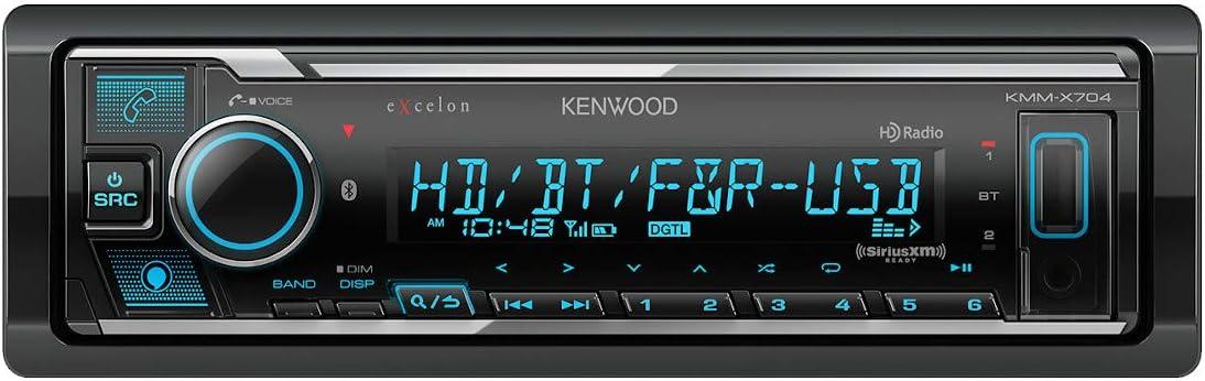 Kenwood eXcelon KMM-X704 Digital Media Receiver with Alexa, Bluetooth and HD Radio Compatibility