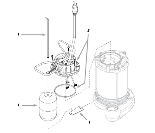 2 Hp Submersible Cast Iron And Steel Sump Pump With