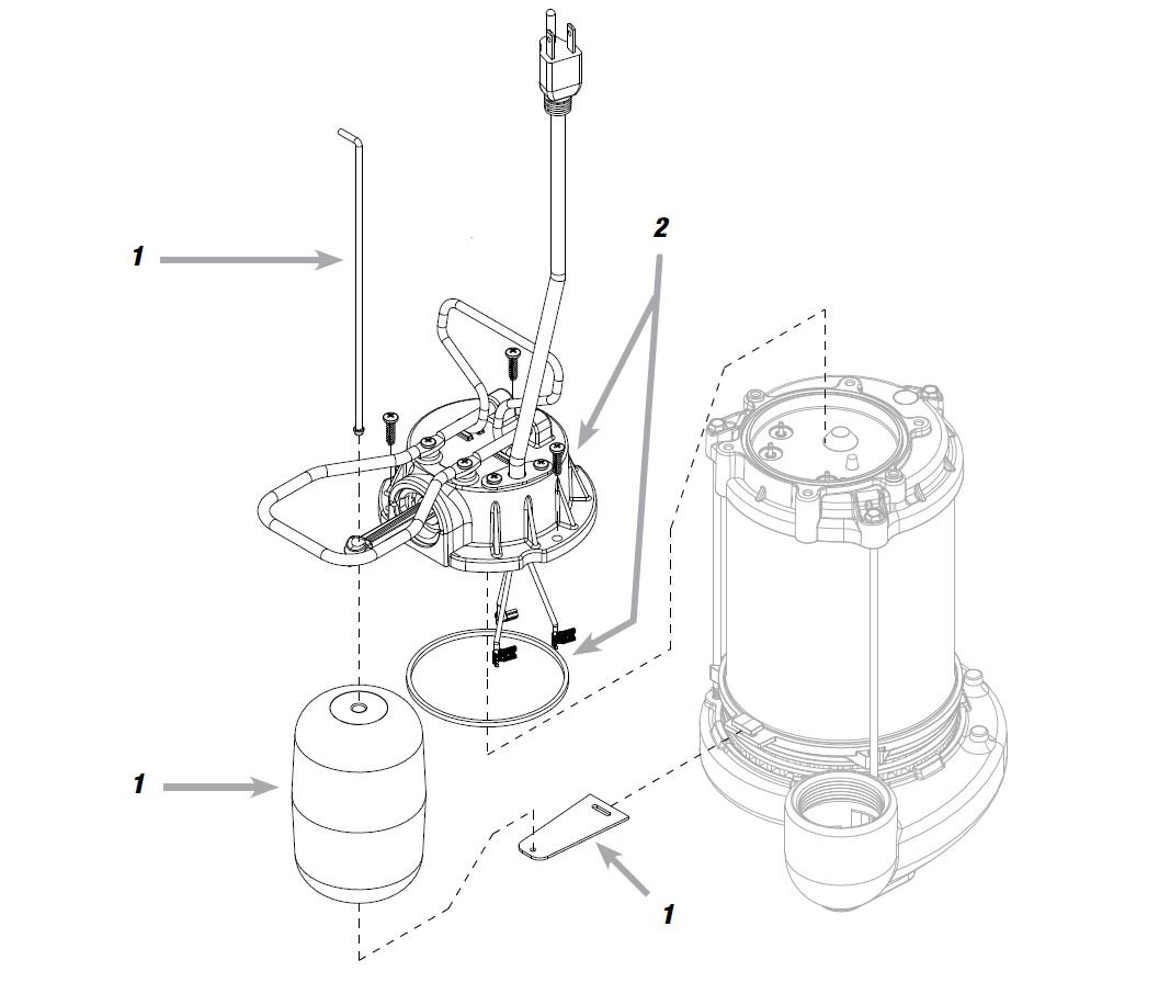 WAYNE CDU800 1/2 HP Submersible Cast Iron and Steel Sump Pump With Integrated Vertical Float Switch by Wayne (Image #3)