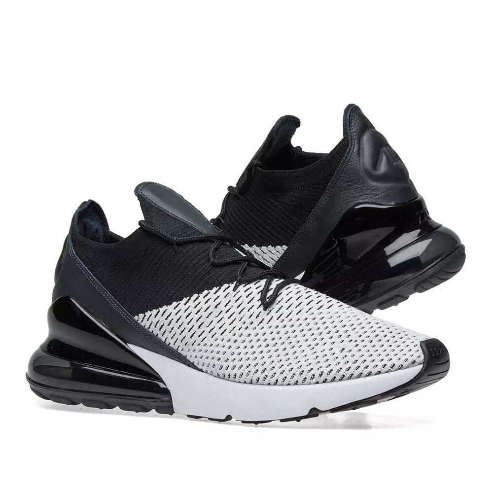 TENGFEI Air 270 Flyknit Men's Running Shoes Trainers Lace up 5.5 Breathable Leisure Sneaker B07DW1VQ8P 5.5 up M US|Black and White ee49fc