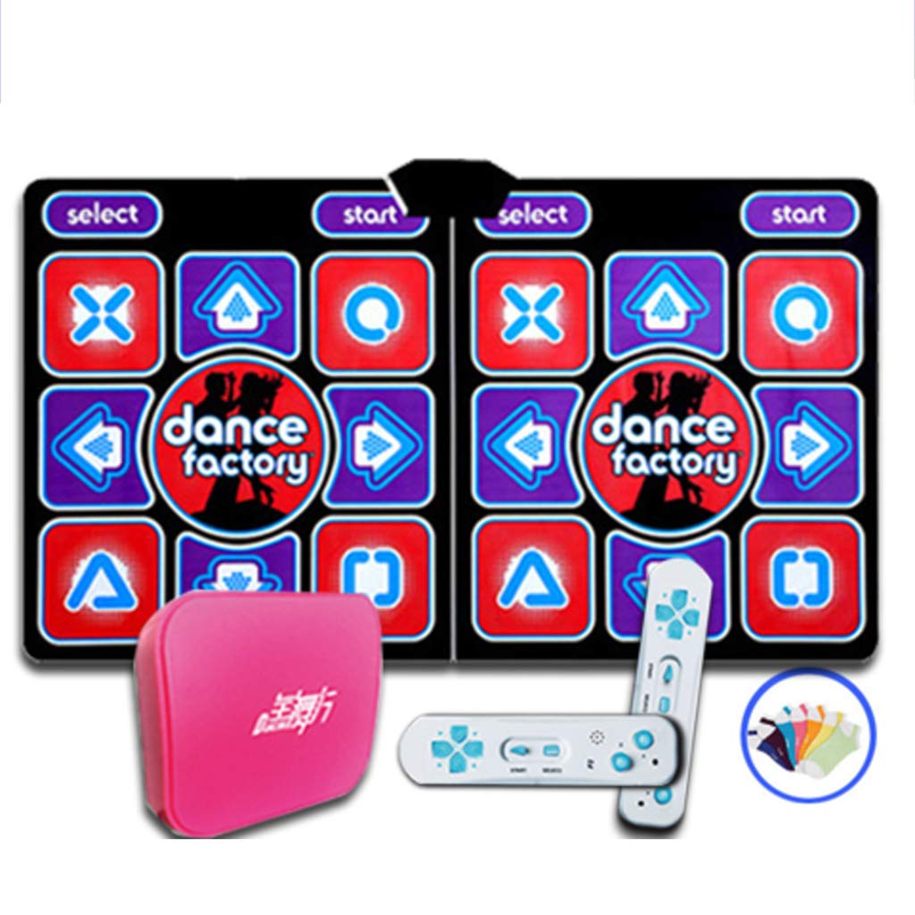WEWE Children Wireless Dance Mat,Fitness Game Dance Pad Dance Revolution Foldable Hd Tv Computer Dual-c 166x93cm(65x37inch) by WEWE (Image #1)