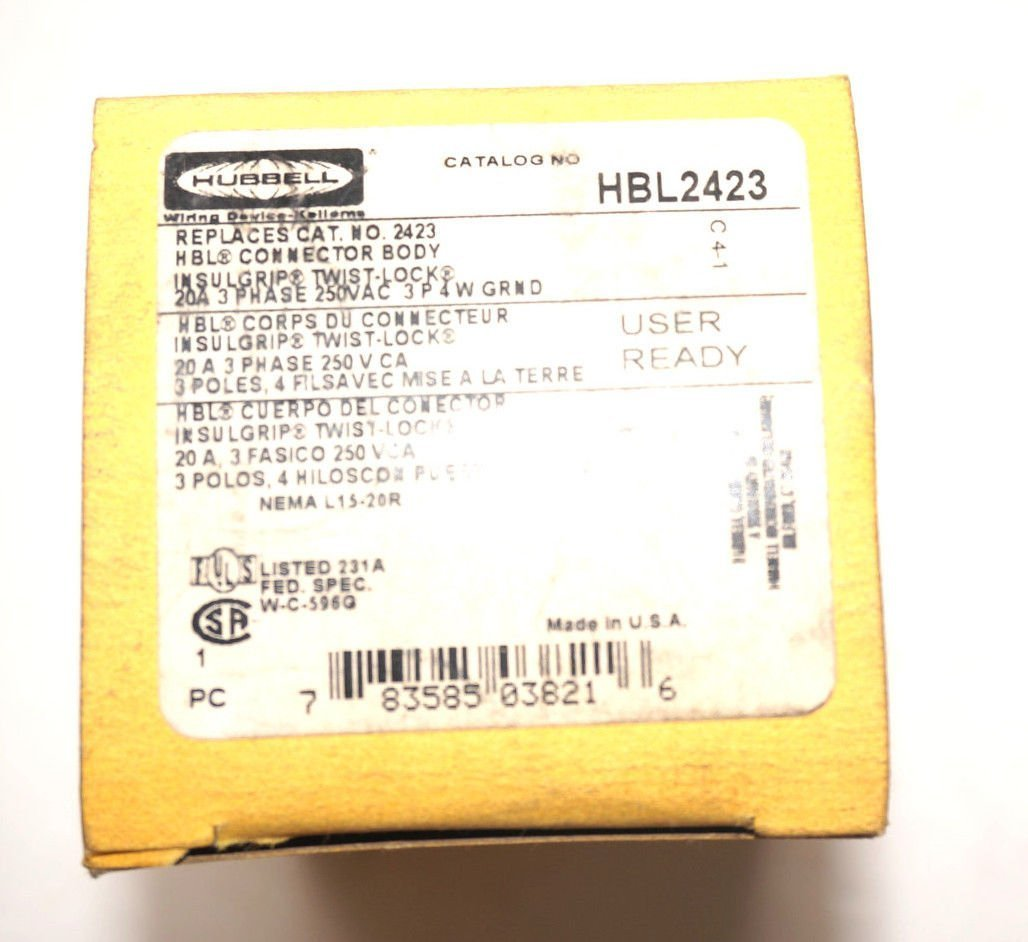 HUBBELL CONNECTOR BODY HBL2423