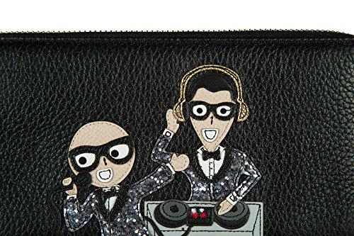 Sostiene La amp; Tarjeta Cuero Cartera Doble Monedero Que La De Los De Pliegue Postal Hombres Alrededor Dolce De De Moneda Caja Gabbana FgqqO