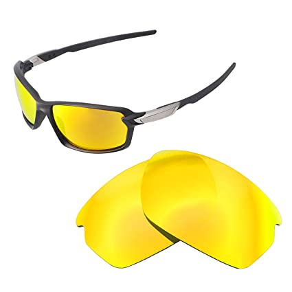 b39327b4e184 Walleva Replacement Lenses for Oakley Carbon Shift Sunglasses - Multiple  Options Available (24K Gold Mirror