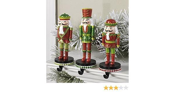 Amazon Com Christmas Nutcracker Stocking Hanger Set Of 3 Home