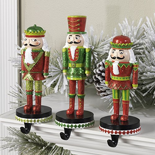 Christmas Nutcracker Stocking Hanger - Set of 3 by RAZ Imports