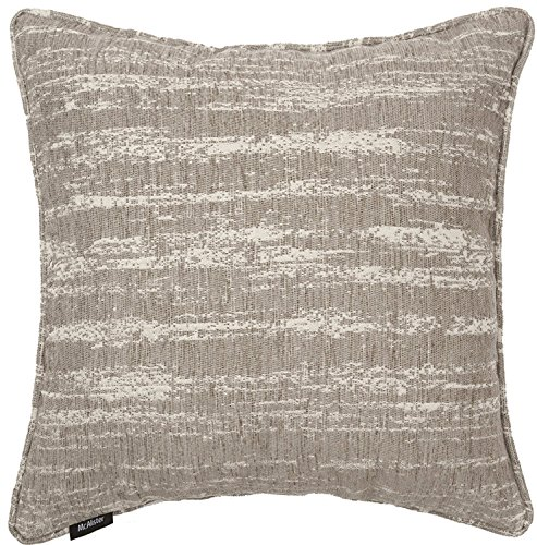 McAlister Textured Chenille Boudoir Decorative Pillow Cover | 18x12 Light Grey with Silver Metallic Effect | Retro Rustic Accent Décor Boudoir Pillow Cover