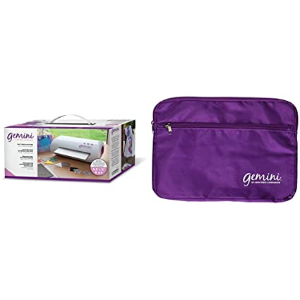 White Crafters Companion Gemini Junior Portable Die Cutting and Embossing Machine Bundle 36.1 x 23.8 x 18.6 cm