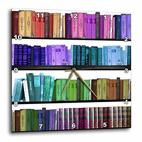Colorful Bookshelf Books - Rainbow Bookshelves - Reading )
