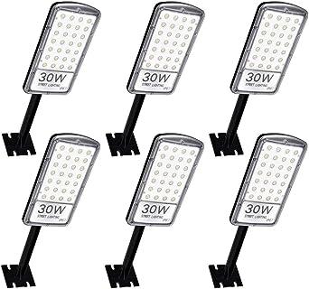 Ankishi Farolas LED para Exterior 6 Pack 30W 3000LM, Foco Módulo Super Brillante IP67 6500K(Blanco Frío), Farola con soporte de montaje, Reflector Lámpara para Exterior, Floodlight Jardín Patio.: Amazon.es: Iluminación