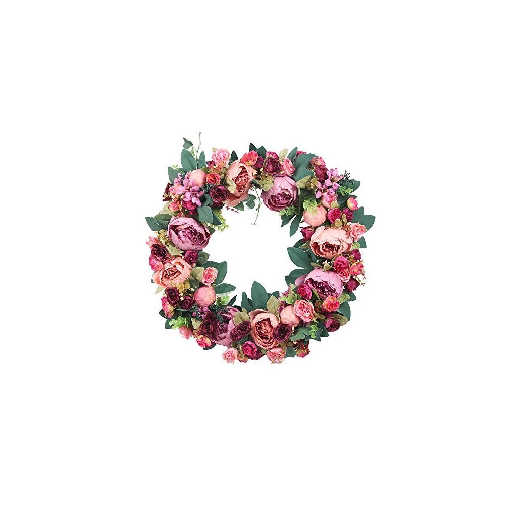 AmyHomie-Door-Decor-Artificial-Wreath-Holidays-Decoration-Artificial-Flower-Wreath-for-Front-Door