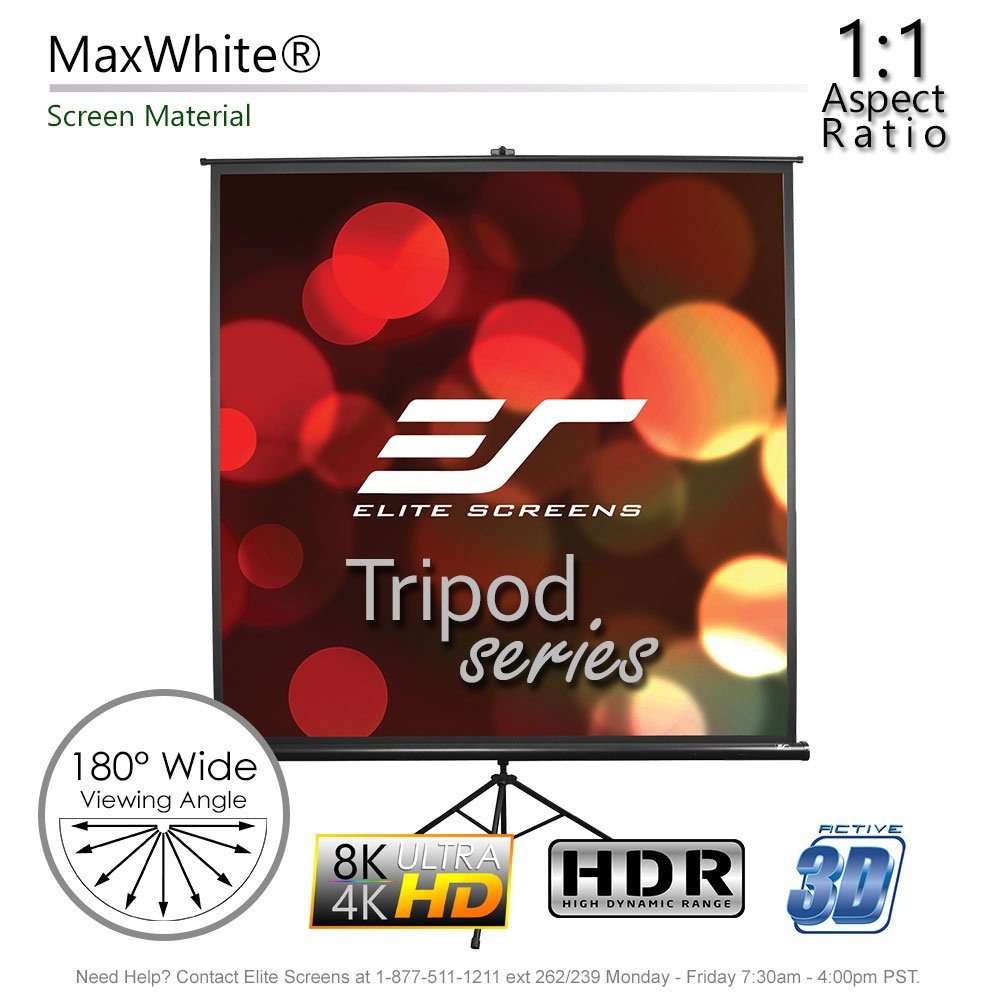 Elite Screens Tripod Series, 50-INCH 1:1, Adjustable Multi Aspect Ratio Portable Indoor Outdoor Projector Screen, 8K/4K Ultra HD 3D Ready, 2-YEAR WARRANTY, T50UWS1 by Elite Screens (Image #2)