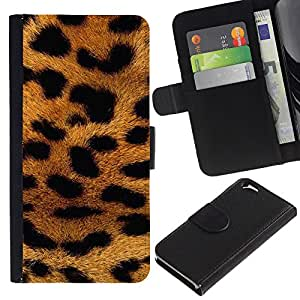 KingStore / Leather Etui en cuir / Apple Iphone 6 / Motif Afrique animaux d'or