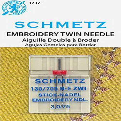 Schmetz Double Machine Embroidery Needle Sz 3.0/75 1 Pk -  S1737