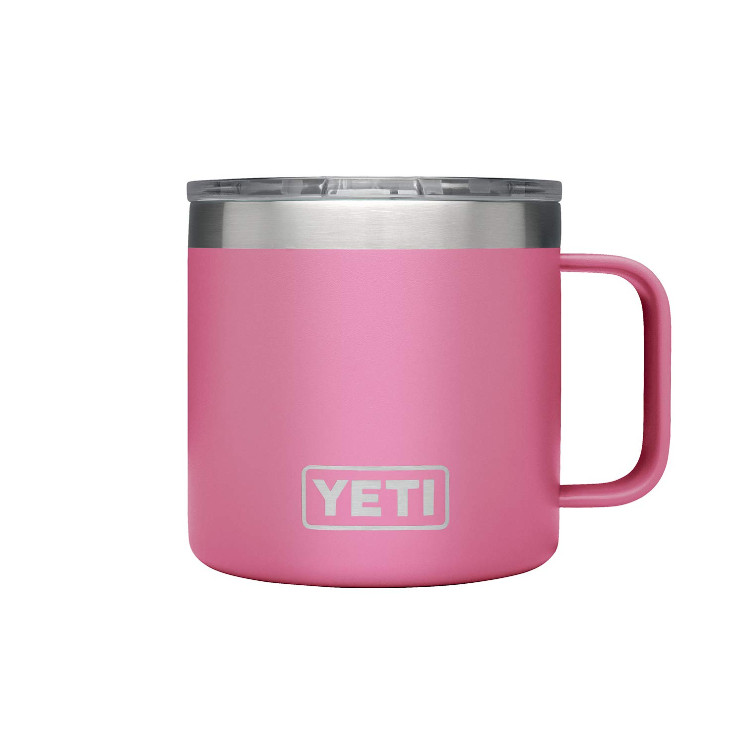 YETI Rambler 14 oz Stainless Steel Vacuum Insulated Mug with Lid, Harbor Pink