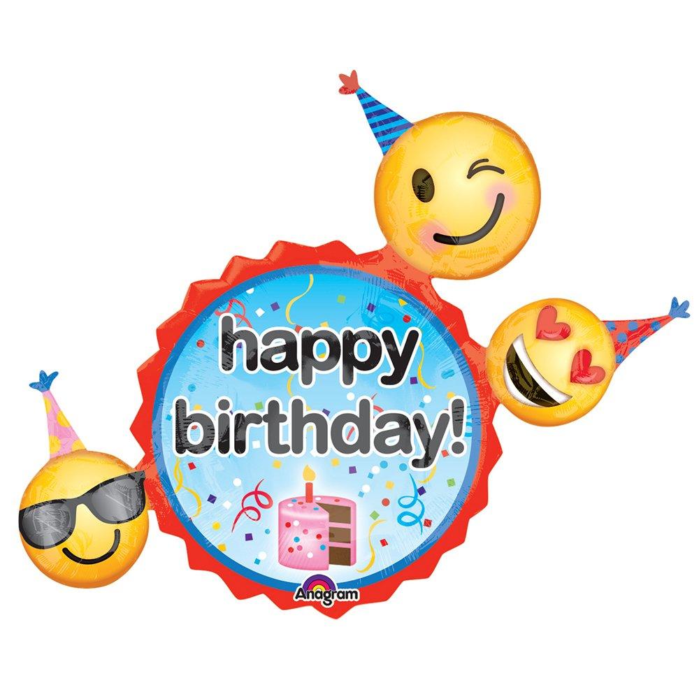 Amazon.com: Emoji deseos de cumpleaños – globo: Toys & Games