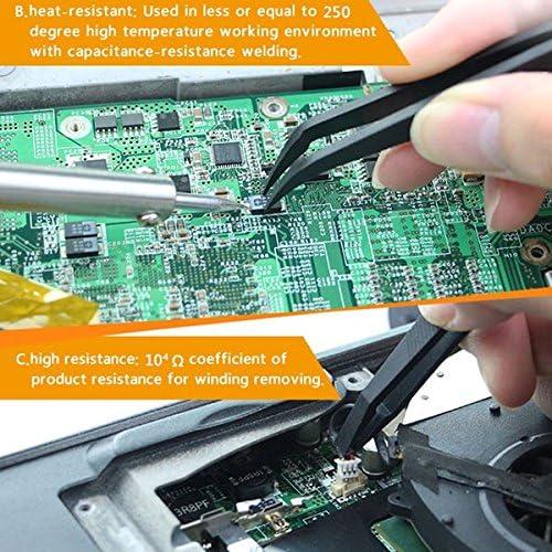 KUNSE Jakemy Jm-T11 3Pcs Pinces en Nylon Antistatiques Set Triad Fix Kit De R/éparation pour Les Composants /Électroniques