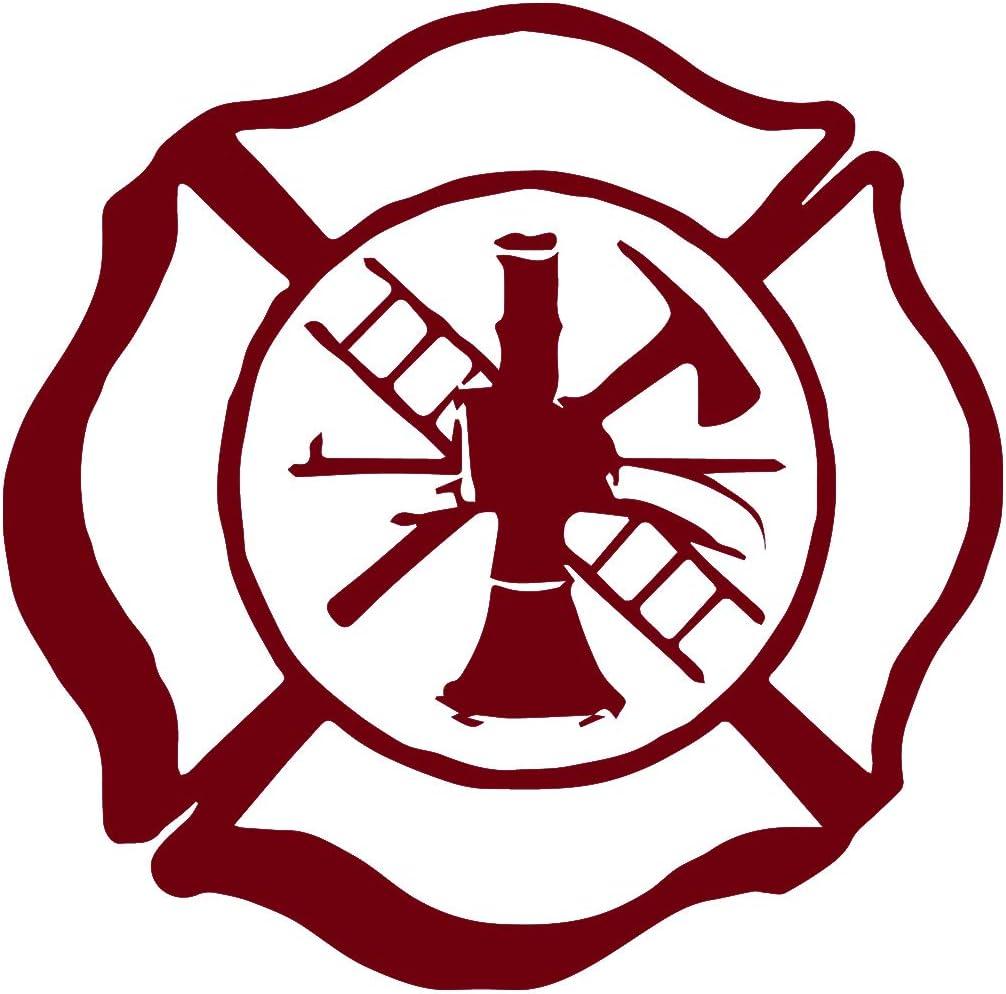 2 Fire Department Vinyl Decals