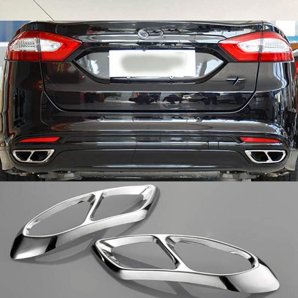 Piaobaige F/ür Ford Mondeo//Fusion Limousine 2013-2018 Auto Hinten Dual Auspuff Endrohr Aufkleber Abdeckung Blenden Zubeh/ör Edelstahl
