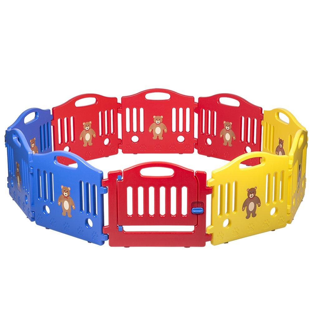 10 Panel Safety Play Center Yard Baby Playpen Kids Home Indoor Outdoor Pen