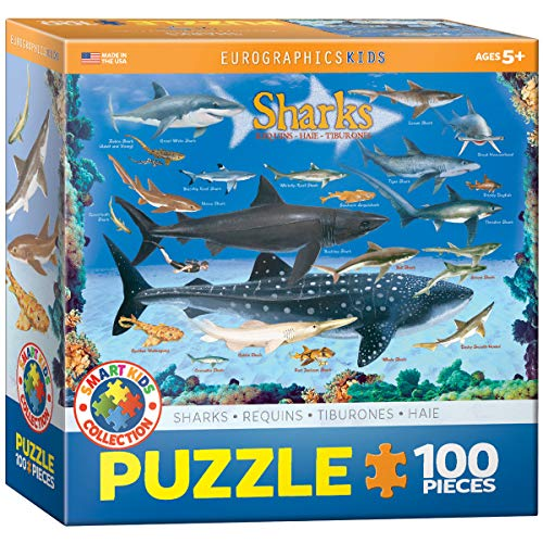 Sharks 100 Piece Jigsaw Puzzle ()