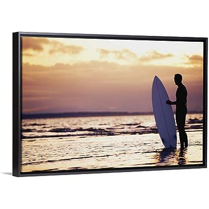 Amazon com: Daniel Sicolo Floating Frame Premium Canvas with Black