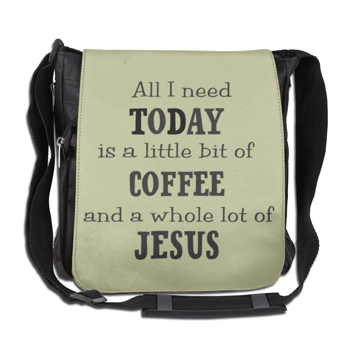 Coffee and Jesus Fashion Diagonal Single Shoulder Workout Bag