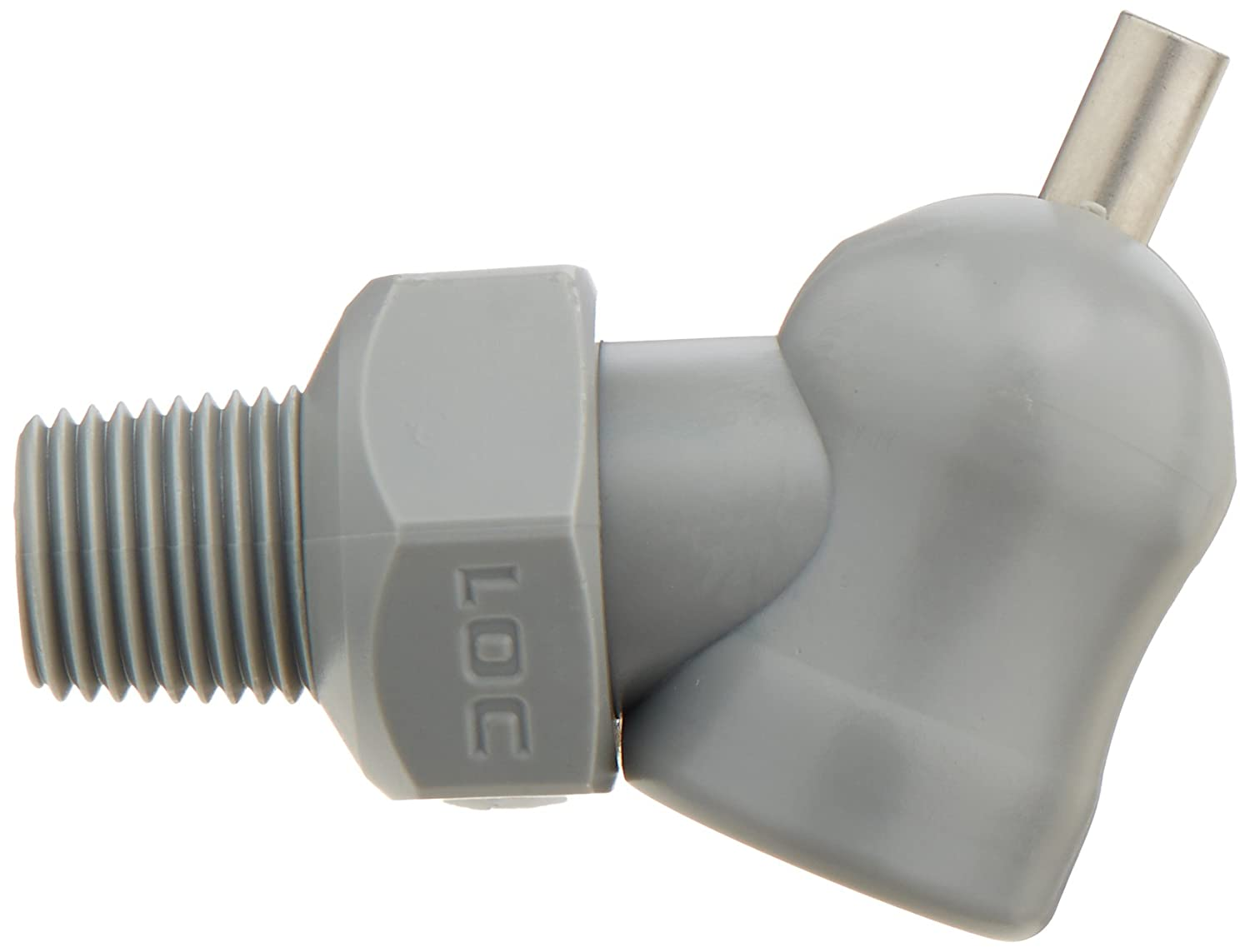 XR Style with Adjustment Lever Pack of 11 0.086 x 0.25 Loc-Line 79045-G Acetal HPT Nozzles Thread Size 1//8 Gray