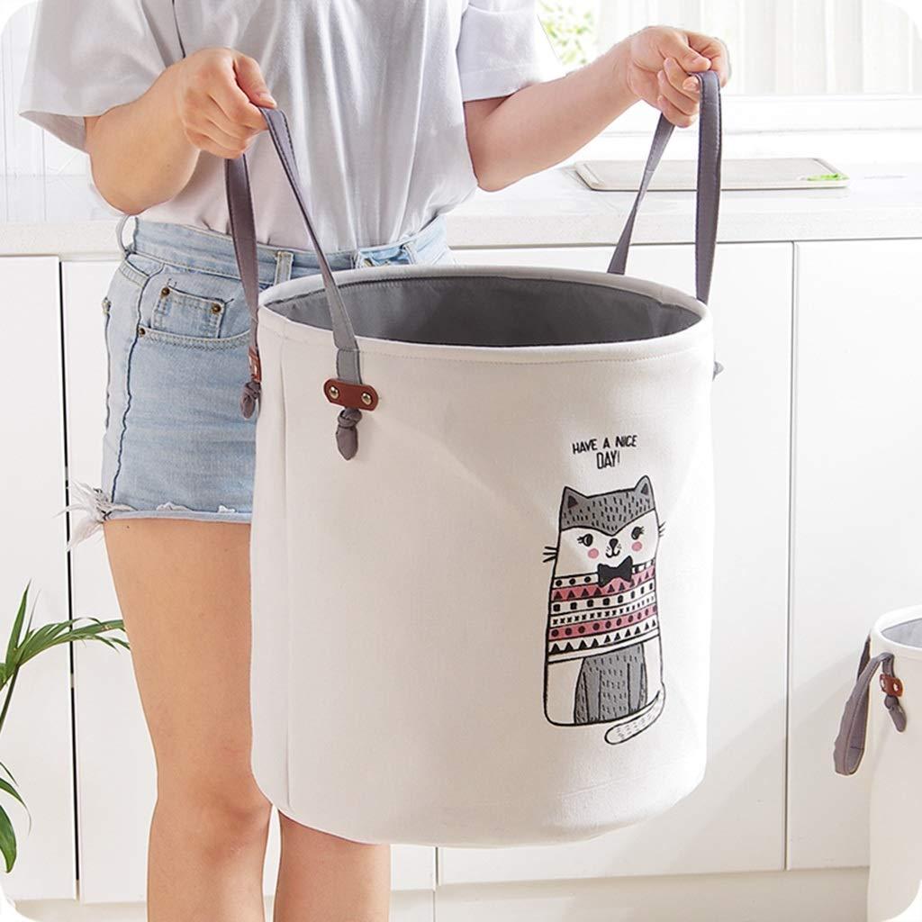 YCL Haushalt Cartoon Große Kapazität Schmutzige Kleidung Lagerung Eimer Kinder Spielzeug Ablagekorb Wäschewanne (Color : B)
