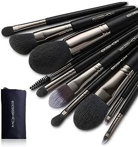 Brocha Maquillaje, EIGSHOW 10 piezas brocha profesional 100% vegano sintético cerdas foundation blush kit de cosméticos con brocha en polvo pincel para ojos pinceles de maquillaje: Amazon.es: Belleza