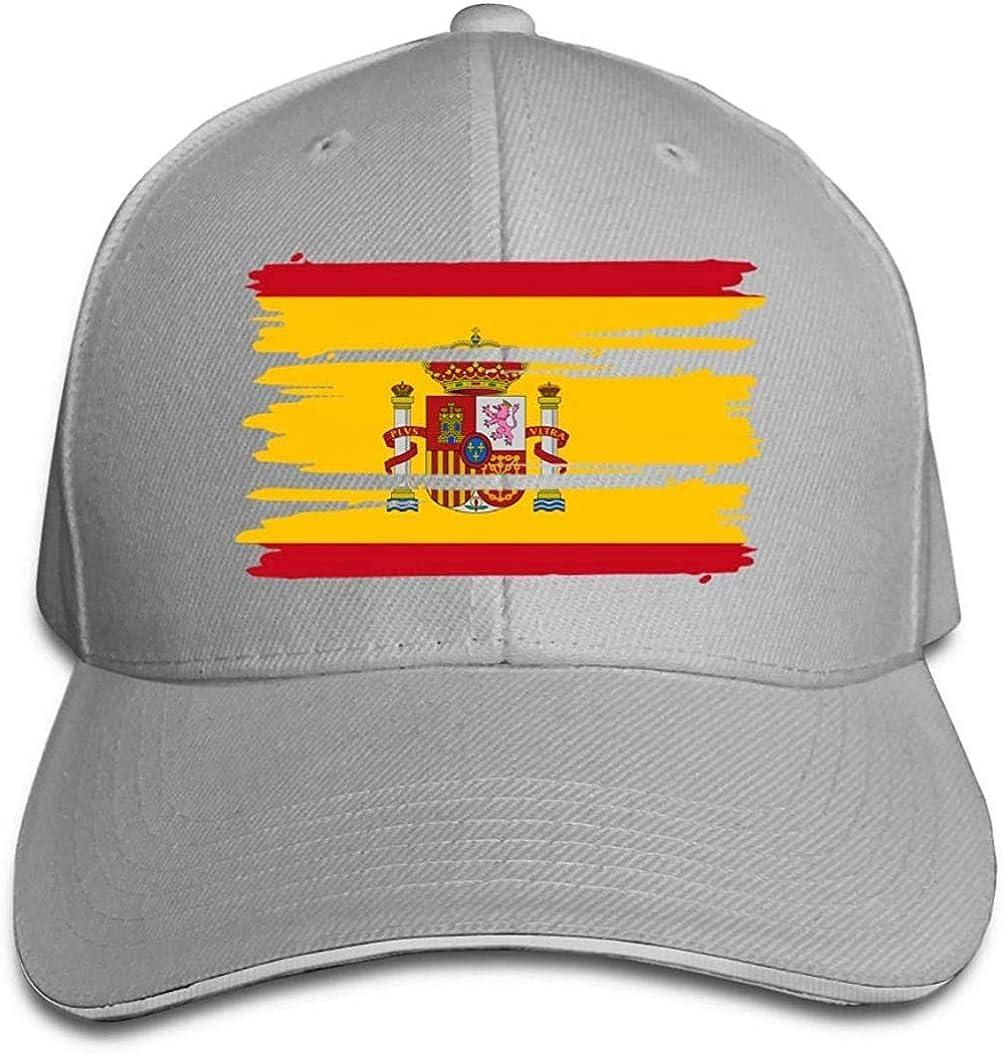 ZYZYY Gorra De Béisbol Gorra De Béisbol con Bandera De España Unisex Gorra Sándwich De Pico Ajustable: Amazon.es: Ropa y accesorios
