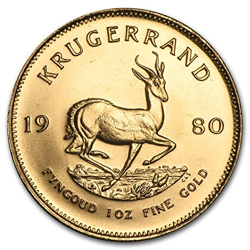 1980 ZA South Africa 1 oz Gold Krugerrand 1 OZ About Uncirculated ()