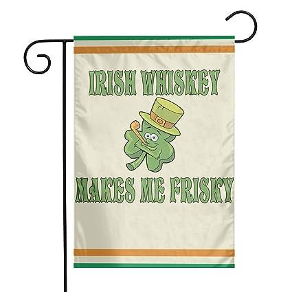 Amazon com: TTIWEP Irish Whiskey Makes Me Frisky Garden Flag