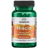 Swanson Niacin 100 Milligrams 250 Tabs