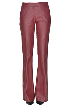 55b1364e9c4e2 Image Unavailable. Image not available for. Color: KILTIE EZGL187002RE Women's  Red Faux Leather Pants