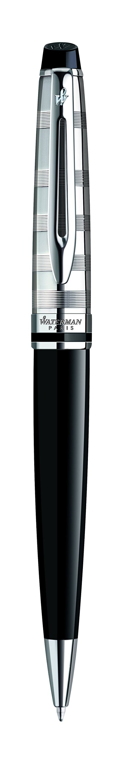 Waterman Expert Deluxe Black, Ballpoint Pen with Medium Blue refill (S0952360) by Waterman (Image #3)