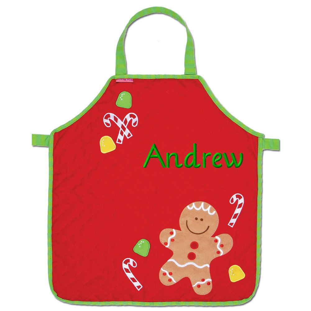 Personalized Stephen Joseph Gifts Christmas Apron, Gingerbread