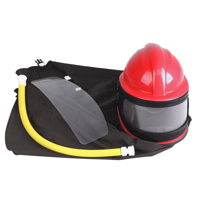 YaeKoo AIR Supplied Safety Sandblast Helmet Sandblasting Hood Protector (RED)