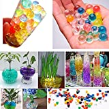 Kinbelle 260g Pack Crystal Pearl Plant Beads Colorful Kids Toys Growing Water Balls