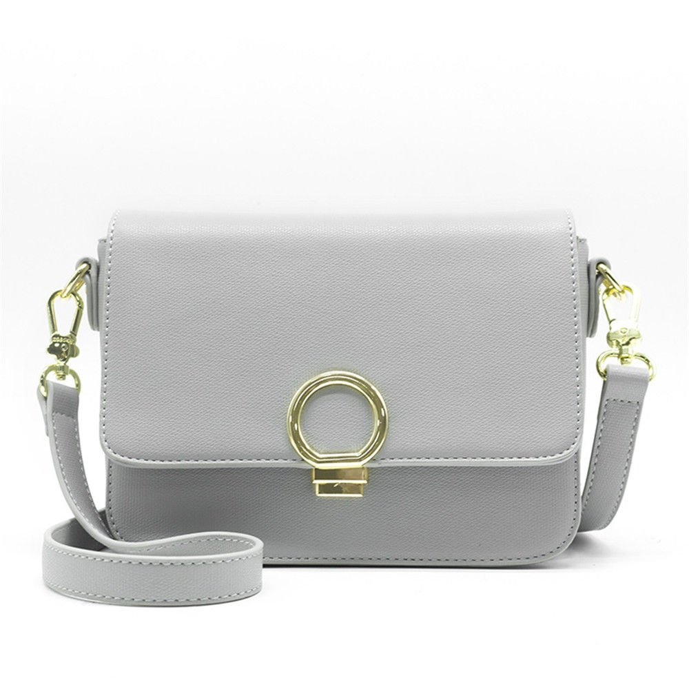 Slant Bag Woman Bag With Small Bag,Gray,21X17X10Cm