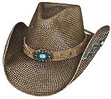 Bullhide Montecarlo Amnesia Genuine Panama Western Hat Brown Large