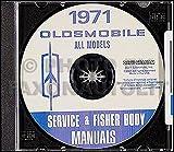 1971 Oldsmobile CD-ROM Repair Shop Manual & Body Manual