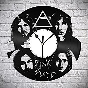 VinylShopUS – Pink Floyd Vinyl Wall Clock Music Bands and Musicians Themed Personalized Decor