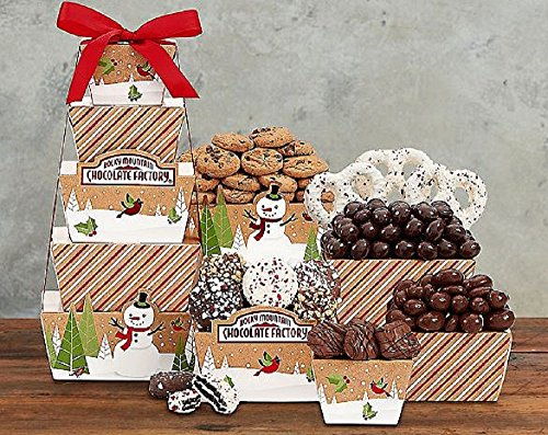 Gourmet Food Gift Basket, Rocky Mountain Chocolate Factory Tower