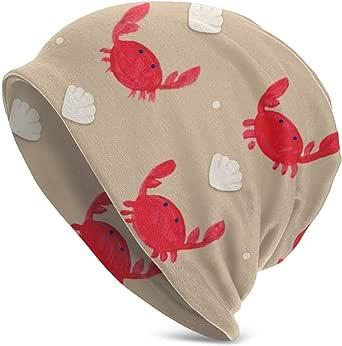 Sombrero Beanie, Gorro de Calavera de Cangrejo Rojo Esquí