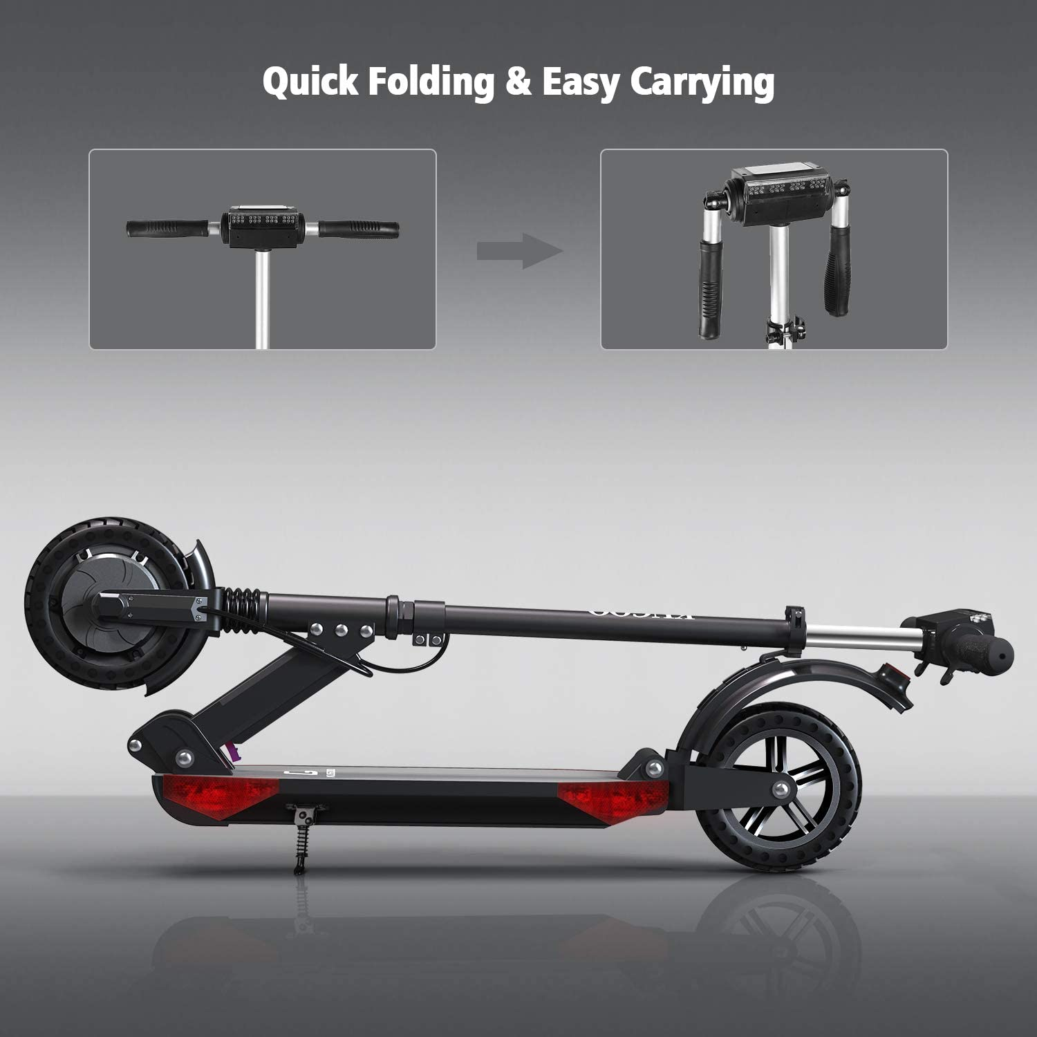 S1 Pro urbetter Folding Electric Scooter 350W Motor LCD Display Screen 3 Speed Modes 8 Inch Honeycomb Explosion-Proof Tire 30km Long Range Electric Kick Scooter with LED Light and Bag