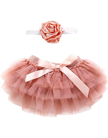 Small Baby Skirt and Tutu with Flower Headband Photography Prop Custume Wanshop  /® Baby Tulle Tutu Skirts Baby Costume Clothes