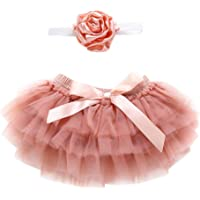 Topgrowth Gonna Bambina Neonata Balletto A Pizzo Danza Sottogonna Layered Gonne in Tulle + Fascia per Capelli Bimba 2Pcs Outfits